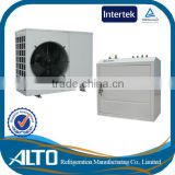 Induction heating home 4~10kw 230v air source heat pump split evi scroll compressor for cool room