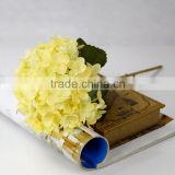 New trend artificial yellow hydrangea bulk silk flowers real touch hydrangea                                                                         Quality Choice