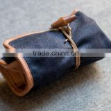 customized high quality watch roll case canvas leather                                                                         Quality Choice
