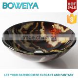 Low Price Bathroom Sanitary Ware Hand Paited 12mm Thickness Wash Basin Glass Bowl for Shower Room