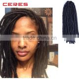 cheap wholesale price ebony soft dread lock synthetic braiding hair extension                                                                         Quality Choice