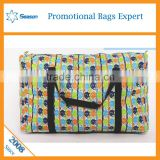Fashion designs high quality Folding pp woven travel storage bag Large Size bag