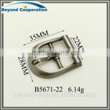 22mm inner size Tri-glide buckle for men's sandals brush gun metal plated metal shoes buckle