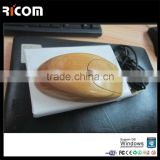 Whosale Brand New Grade wired wooden mouse whole bamboo optical mouse natural carbonized color bamboo products