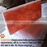 accurated size 20*10*2cm cuboid pink red orange himalayan salt bricks for salt walls salt tiles price