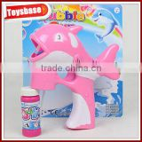 Pink dolphin bubble gun with music and light