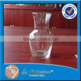 SGS certificate 11oz necked small cheap glass decanters