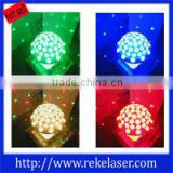 LED full color ctrystal magic ball rotating lamp+voice control,stage light,make your party amazing,12 months warranty