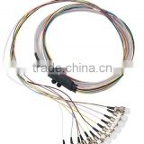 China supplier FC 12 core waterproof Optical fiber pigtail ,Ribbon 12 core fiber optic pigtail bundle cable