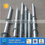 Widely used hot dipped galvanized screw no dig ground screw pole anchor for solar system