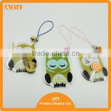wholesale blank clear plastic Owl laser cut acrylic key chain