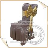 luxury chair cover/ tie back chair covers/brown chair cover