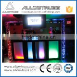 Cheap wholesale Suitable for mobile performance dj booth truss/DJ folding table