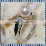 Elegant Perfect Round Pearl Ring PFR011