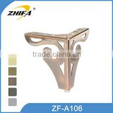 ZHIFA ZF-A106 competitive price wood coffee table legs, feet for chairs, brass table legs