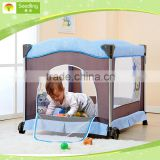 Baby play yard with changing table, Mesh Sided baby folding playpen, portable baby playpen