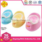 Jieyang Defa hot selling baby portable plastic potty, PP baby toilet, Detachable baby training potty, plastic chamber pot