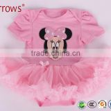 Baby Girl Clothes Print 2016 Summer Romper Newborn Baby Jumpsuits One-piece Shirt Mouse design