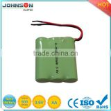 high performance ni-mh battery aa 2200mah/nimh 3.6v aa 2200mah rechargeable battery pack