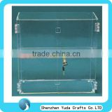 acrylic jewelry display case with lock locking acrylic display case clear 2 shelves locking display case