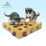 Pet furniture for cat toy Pick A Prize Toy Box with 2 Toys/ Wooden cat toys/ Pet furniture