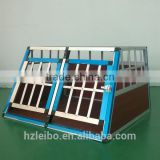 easy assembly eco-friendly factory direct sale aluminium double door dog kennel