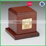 top quality solid wood cheap pet cremation urn