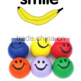 wholesale price Happy Smile Face Stress Ball PU toy ball for kids PU foam sponge ball stress ball/