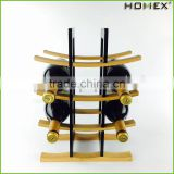 Bamboo Sleek and Chic Looking Wine Rack Homex BSCI/Factory