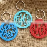 china factory wholesale custom acrylic lucite pvc keychain