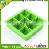 100% Platinum Silicone Baby Food Freezer Tray Ice Cube Box Europe LFGB Certification 9 Grid with Lid