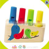wholesale baby wooden whistle toy fashion kids wooden whistle toy popular children wooden whistle toy W07E003