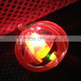 Halloween party supplies custom logo plastic pumpkin led flashlight brooch pin art crafts