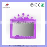 High Reflection Hot Sale Square Crown Princess Silver Glass cheap plastic mirror sheets