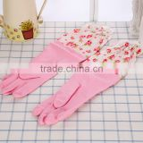 L00035 rubber gloves scrubber/ house/kitchen /cleaning room with velvet