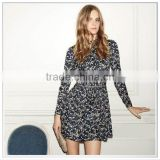 Customized 2014 Holiday Lookbook Dark Green Leaf Design Digital Printing Top Quality Cotton Satin Drill Fabric/ Dresses