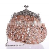 R0035H Wholesale fashionable beaded evening clutch bag
