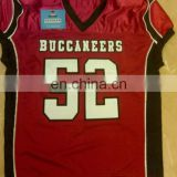 Custom American Football Jersey with Embroidery and Tackle Twill