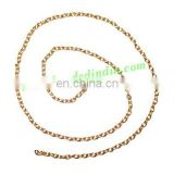 Gold Plated Metal Chain, size: 0.5x2mm, approx 151.9 meters in a Kg.