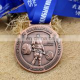 customized colors plating and sharp zinc alloy running medal