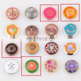 New styles fashionable custom popular custom printed snap buttons