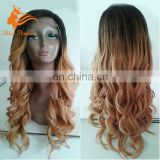 ombre color Loose wave 100% Virgin brazilian hair full lace human hair wigs