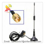 3G Sucker Antenna with SMA Male plug RG174 Cable Black 3meters magnetic mount antenna