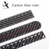 Black High Quality 30cm Carbon Fiber Long Straight Rulers