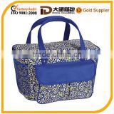 600D polyester durable portable thermal cooler bag with handle aluminum cooler bag thermal bag