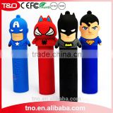 PVC promotion power bank 2600mAh Captain American Spiderman Superheros                                                                         Quality Choice