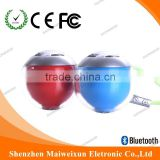 Pairing Bluetooth portable Speaker,new design,new idea Ball speaker for gift with LED light