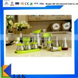 10 pieces set stainless steel oil and vinegar bottle/condiment bottle for pepper salt sugar and oil