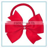 Wholesale Children Elastic Hair Tie Band,Fashion Hair Accessory,Fabric hair bow Hair Ponytail Holders