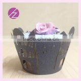 Colorful Festival Laser Cut Party Wedding Favor Supplies Character New design laser cut cupcake wrappers DG-160